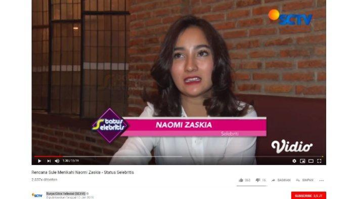 Naomi Zaskia diwawancara tentang kedekatannya dengan Sule.