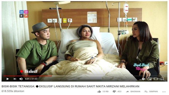 Nikita Mirzani bagikan cerita saat proses kelahiran anak ketiganya, Senin (29/4/2019).