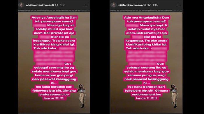 Unggahan Insta Story Nikita Mirzani
