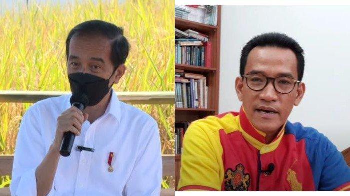 Presiden RI Joko Widodo (kiri) dan Pakar Hukum Tata Negara, Refly Harun (kanan). Refly Harun mengadakan kampanye untuk menolak wacana Presiden RI Joko Widodo (Jokowi) menjabat selama tiga periode. Kampanye tersebut disuarakan lewat akun Twitter-nya, Selasa (22/6/2021).