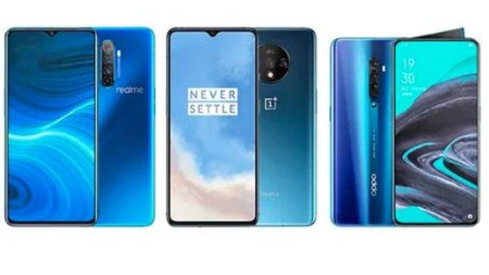 Perbandingan Spesifikasi Realme X2 Pro Vs OnePlus 7T Vs Oppo Reno 2, Unggul Mana?
