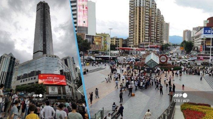 Video Pengunjung SEG Plaza di China Berhamburan Keluar setelah Gedung Berguncang meski Tak Ada Gempa