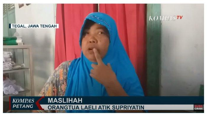 Orangtua Laeli Atik Supriyatin (LAS), Maslihah, dalam acara Kompas Petang, Sabtu (19/9/2020).