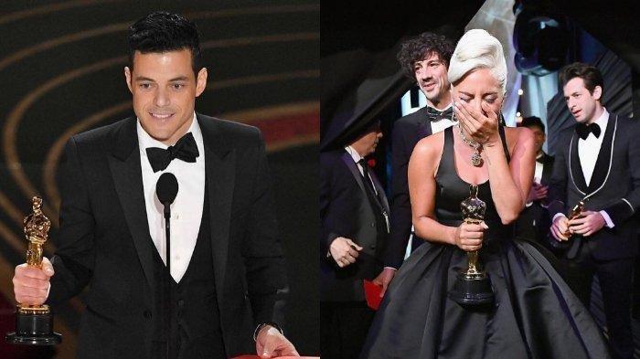 Menangis hingga Tertawa Bahagia, Begini Ekspresi Penerima Oscar dari Rami Malek hingga Lady Gaga