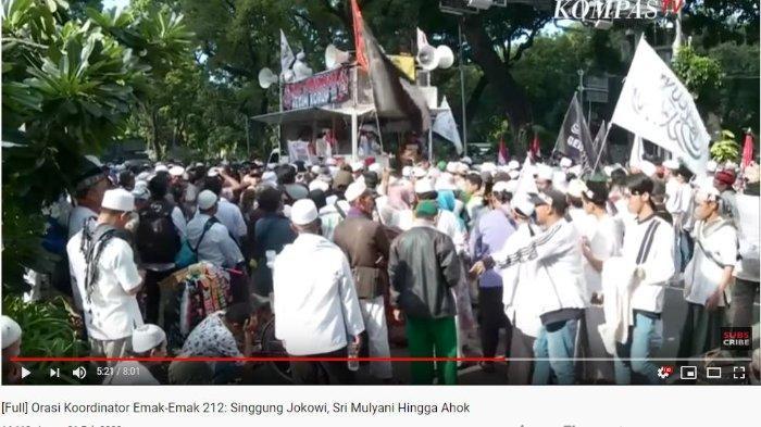 Pada Aksi 212, emak-emak sempat memberikan orasinya pada ribuan orang yang datang di kawasan Monas, Jakarta Pusat pada Jumat (21/2/2020). Terbaru, ilustarsi massa aksi 212.