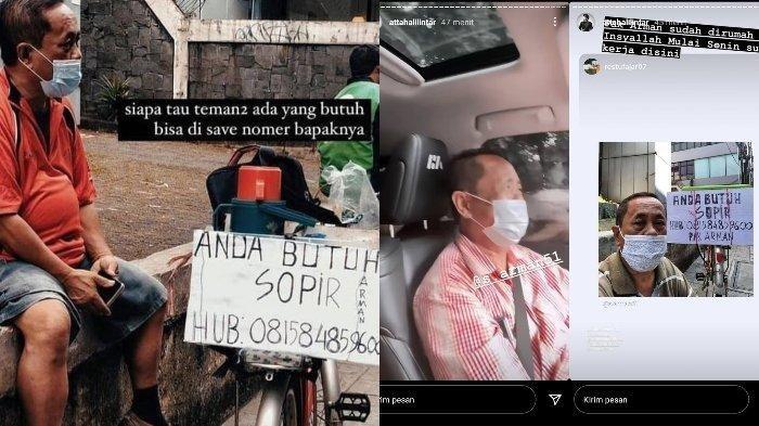 Sosok Pak Arman, sopir yang viral di Twitter dan kini dapat pekerjaan dari Atta Halilintar.