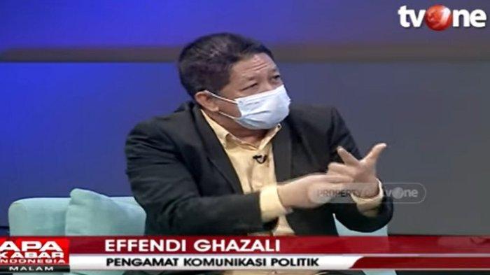 Pakar komunikasi politik Effendi Ghazali menganalisis isi sambutan Ketua Umum Partai Gerindra Prabowo Subianto, Selasa (9/2/2021).
