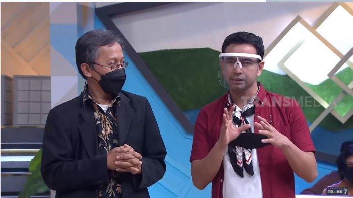 Pakar mikro ekspresi Dody Triasmara (kiri) dan Raffi Ahmad, Jumat (26/2/2021). Raffi dan Dody mengomentari kasus perselingkuhan personel Sabyan Gambus yang sedang marak diberitakan.