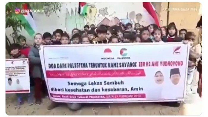Puluhan Anak Yatim di Gaza Palestina Berikan Doa untuk Ani Yudhoyono