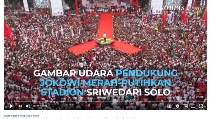 Panggung Kampanye Jokowi di Solo, Selasa (9/4/2019).