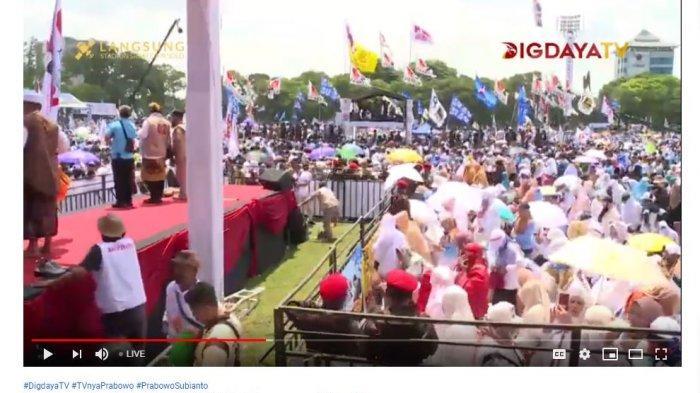 Panggung kampanye Prabowo di Solo, Rabu (10/4/2019).