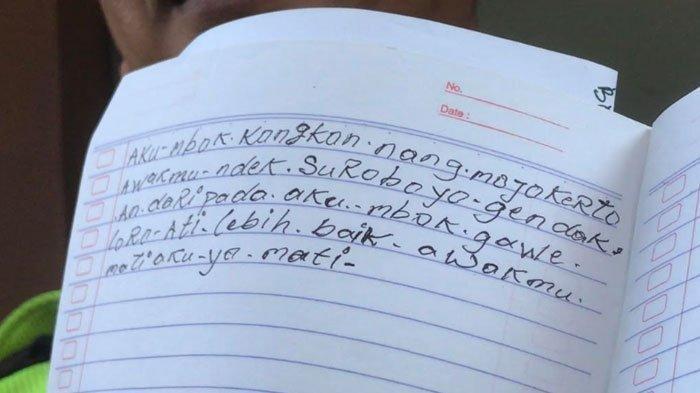 Sebelum Tewas, Suami Istri di Kupang Gunung Surabaya Sempat Tulis Surat