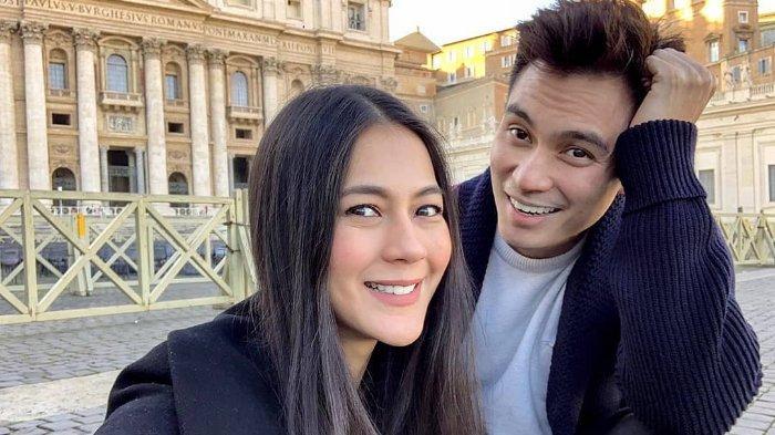 Paula Verhoeven dan Baim Wong saat di Italia