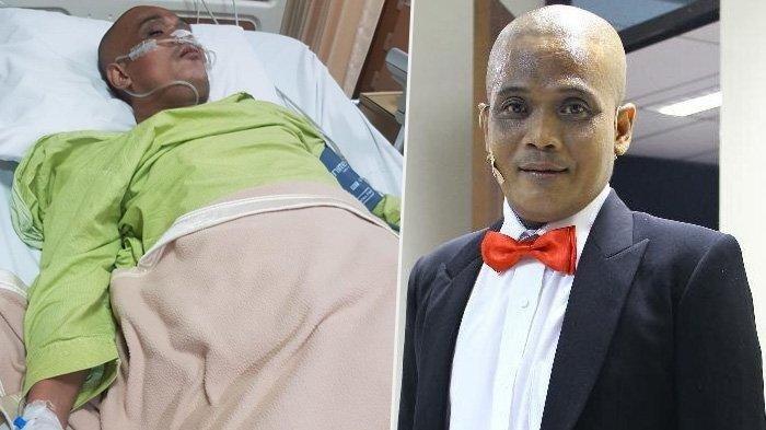 Pakai Selang Oksigen, Pelawak Sapri Tergolek Lemah di ICU Jelang Istri Lahiran, Ruben: Mohon Doanya