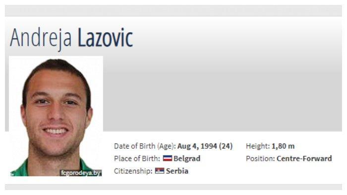 Pemain Serbia, Andreja Lazovic dirumorkan dengan Persib Bandung