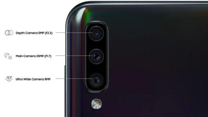 Penampakan kamera belakang Samsung Galaxy A50