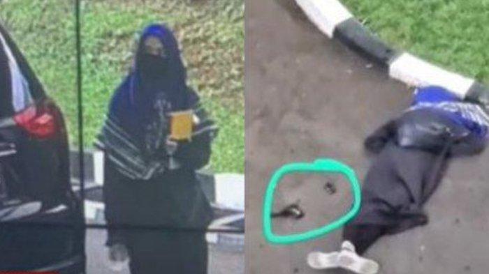 Penampakan terduga teroris yang menyerang Mabes Polri, Rabu (31/3/2021).