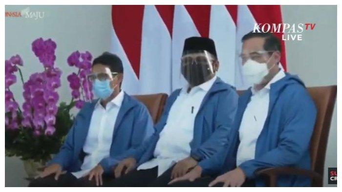 Penampilan menteri baru Jokowi, Selasa (22/12/2020).