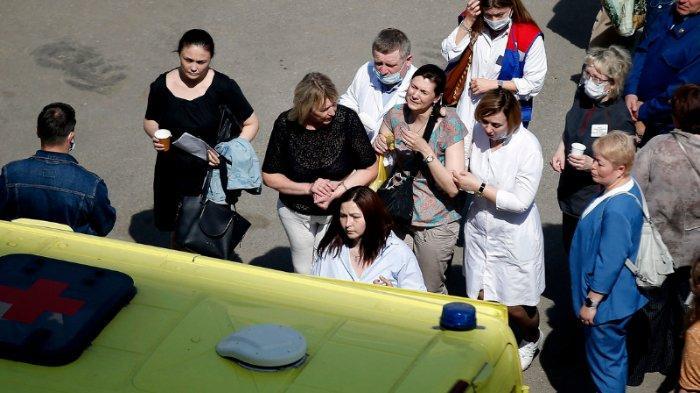 Penembakan Massal di SMP Rusia, 1 Guru dan 7 Anak Tewas, Pelaku Pakai Masker Bertuliskan Tuhan