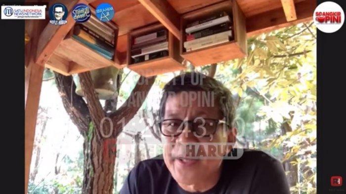 Pengamat politik Rocky Gerung dalam acara SCANGKIR OPINI, Selasa (22/6/2021). Rocky mengomentari soal wacana Presiden Jokowi tiga periode.