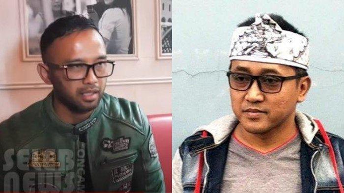 Pengacara Teddy Pardiyana, Ali Nurdin dalam YouTube seleb oncam news (kiri) - Teddy Pardiyana (kanan)