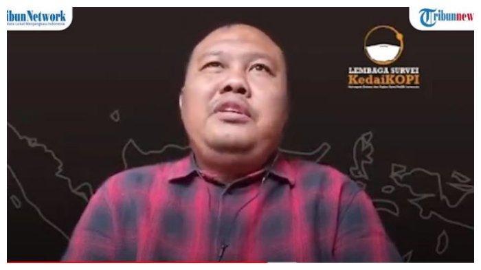 Pengamat Politik Hendri Satrio dalam acara Panggung Demokrasi, Rabu (10/3/2021). Dirinya tanggapi persoalan dualisme di Partai Demokrat, menyusul digelarnya KLB di Deliserdang, Sumut, Jumat (5/3/2021).
