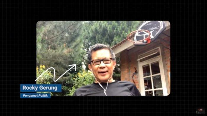 Pengamat Politik, Rocky Gerung dalam kanal YouTube Talk Show tvOne, Jumat (22/5/2020).