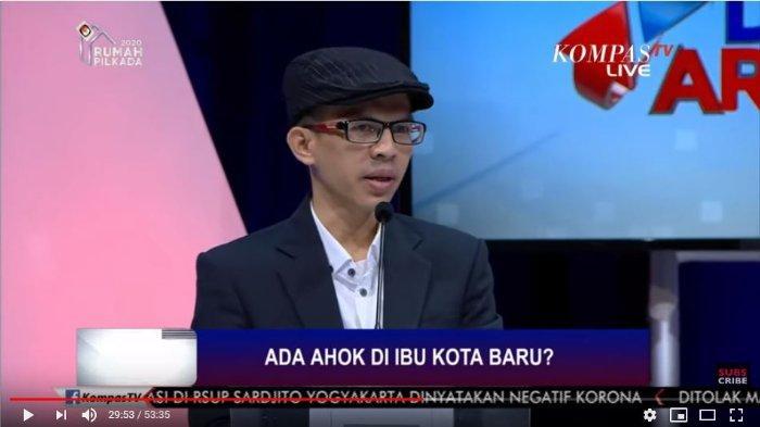 Pengamat Politik Ujang Komarudin dalam saluran YouTube Kompas TV, Senin (9/3/2020).