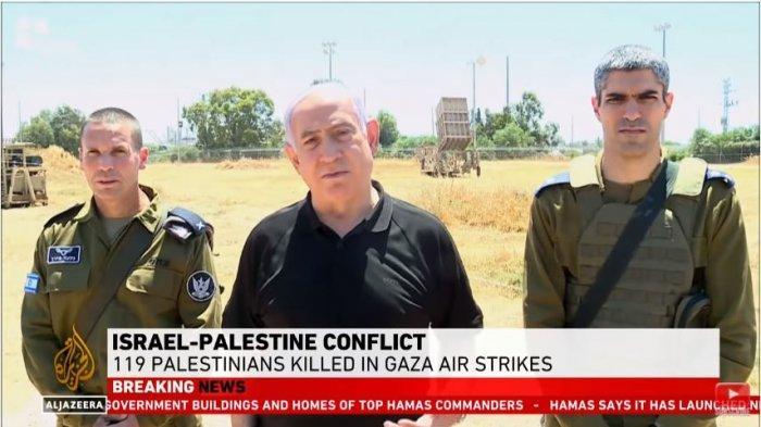 Perdana menteri Israel, Benjamin Netanyahu tegaskan akan terus melanjutkan serangan pada Palestina, Jumat (14/5/2021).