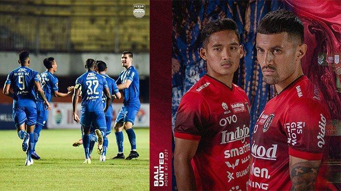 Skuad Persib Bandung di Piala Menpora 2021 (kiri) pada postingan Instagram @persib pada 24 Agustus 2021 dan jersey terbaru Bali United (kanan) pada postingan Instagram @baliunited pada 26 Agustus 2021. Banjir sponsor Persib Bandung dan Bali United.