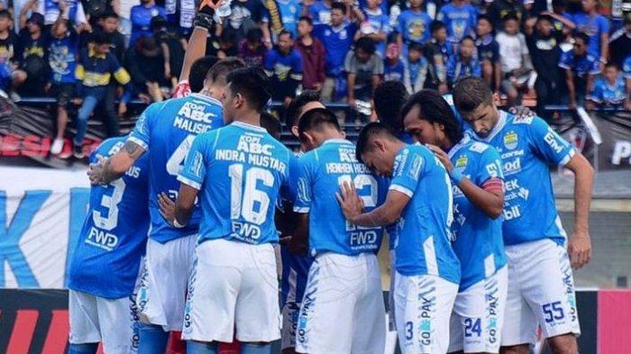 Persib Bandung saat laga melawan PS Tira Persikabo, Sabtu (2/3/2019)