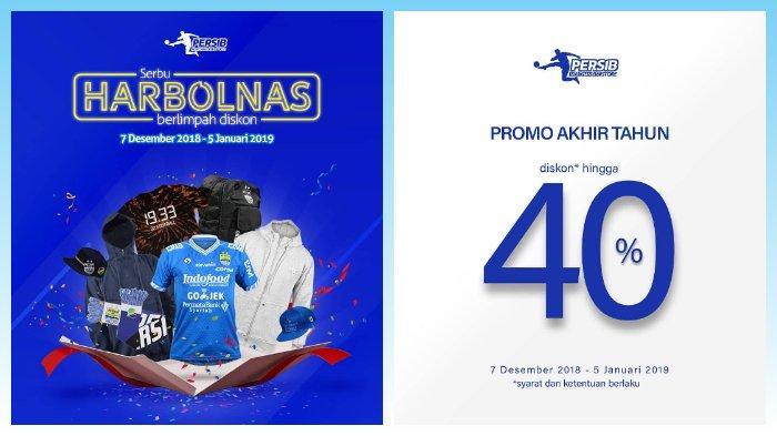Persib Bandung Gelar Promo Harbolnas, Persib Merchandise Store Diskon hingga 40 Persen