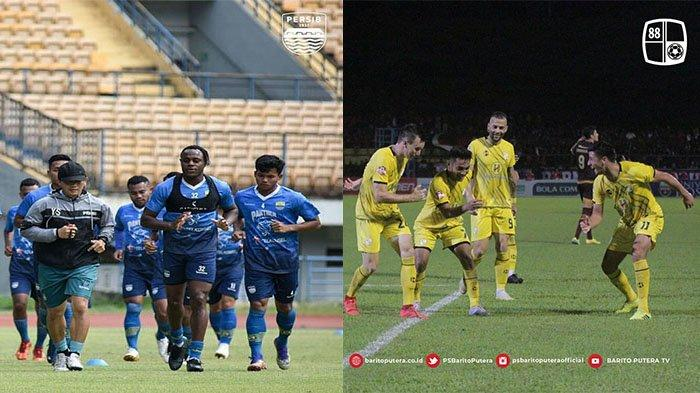 Skuad Persib Bandung (kanan) pada postingan Instagram @persib pada 12 Agustus 2021 dan pemain Barito Putera pada postingan Instagram @psbaritoputeraofficial pada 16 Maret 2020. Skuad bertabur bintang Persib Bandung vs skuad muda Barito Putera.
