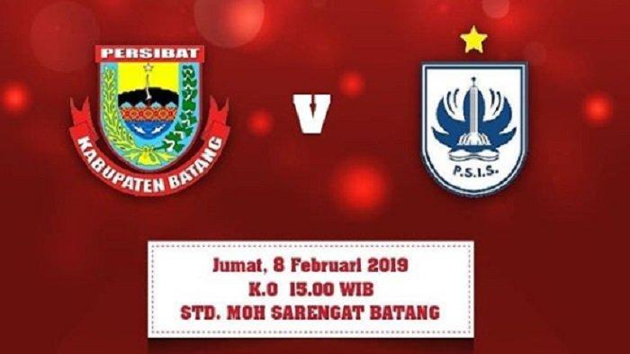 Link Live Streaming Piala Indonesia: Persibat Batang Vs PSIS Semarang Leg Kedua, Pukul 15.00 WIB