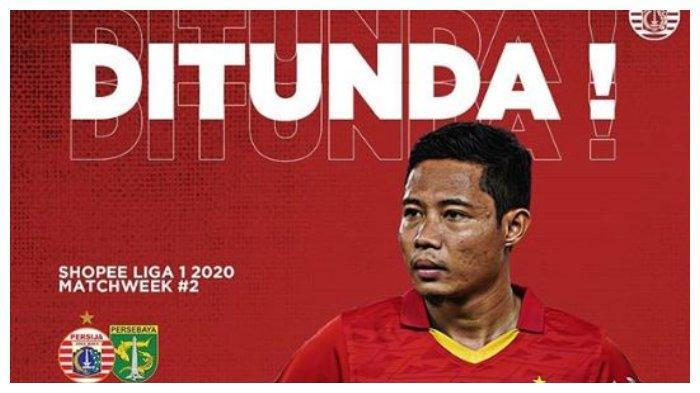 Menindak lanjuti instruksi peningkatan kewaspadaan akan virus corona, pertandingan Persija Vs Persebaya Surabaya di Liga 1 2020 pekan kedua resmi ditunda.
