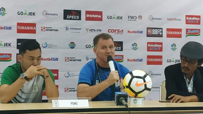 Pelatih PSMS Medan Keluhkan Keputusan Wasit hingga Bawa Nama Arsenal