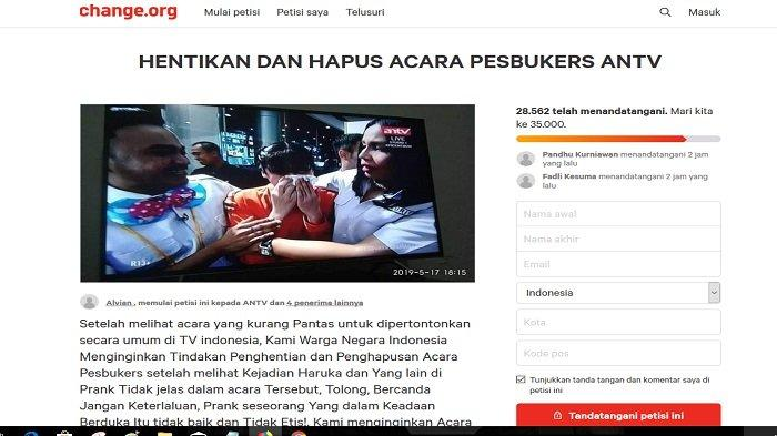 Petisi Pesbukers ANTV