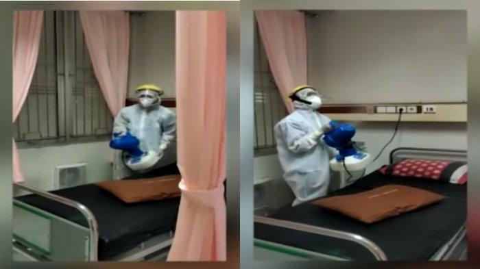Akui Takut Dan Paham Risiko Corona Chairul Tak Gentar Jadi Cleaning Service Rs Sudah Kewajiban Tribun Wow