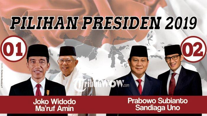 Hasil Survei Elektabilitas Capres Versi Vox Populi, Lihat Jarak Angka Jokowi-Maruf dan Prabowo-Sandi