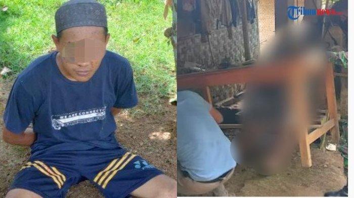 PK (kiri), pria asal Kampung Sendang Rejo, Kecamatan Sendang Agung, Lampung Tengah, tega memenggal kepala ayah kandungnya (kanan). Diduga karena sempat meminta menikah tapi tak disetujui.