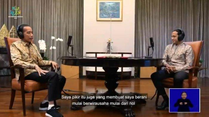 Ditanya Nadiem Makarim, Jokowi Ungkap Kebiasaan Unik Waktu Sekolah: Saya Tidak Mau Kalah