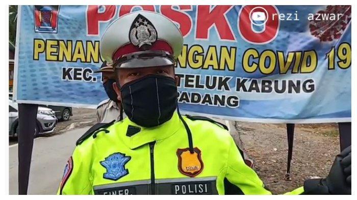 Sambil Tahan Tangis, Polisi Petugas PSBB Ini Berharap Dapat Dites Swab, Ini Alasannya