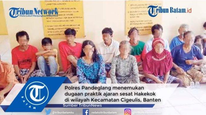Polres Pandeglang telah mengamankan 16 orang yang sempat viral melakukan praktik mandi bareng aliran Hakekok di sebuah kali.