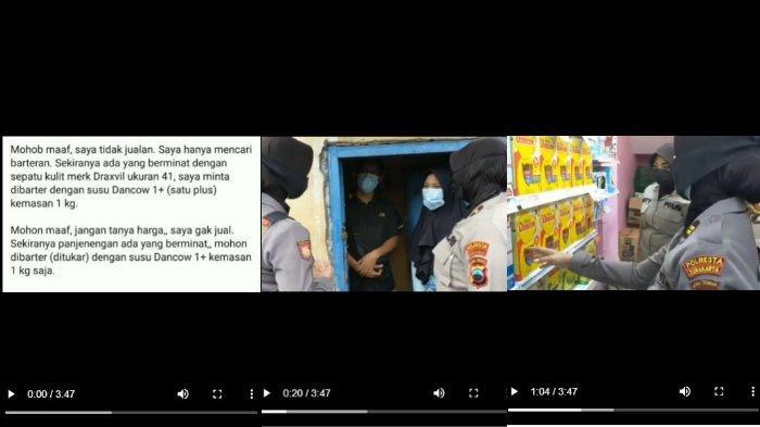 Viral Aksi Seorang Warga Minta Barter Sepatu dengan Sekotak Susu, Ini Respons Polresta Surakarta