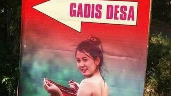 Fakta Viral Poster Penunjuk Arah dengan Gadis Desa Pakai Kemben di Malang: Bukan Even Pemkab