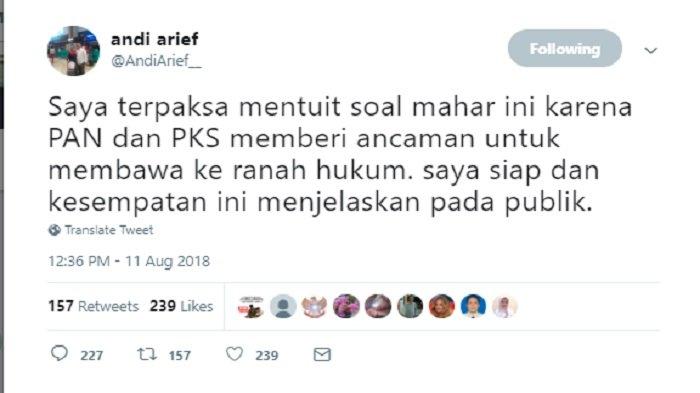 Postingan Andi Arief