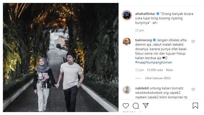 Postingan Atta Halilintar singgung orang yang banyak bicara, Jumat (28/5/2021).