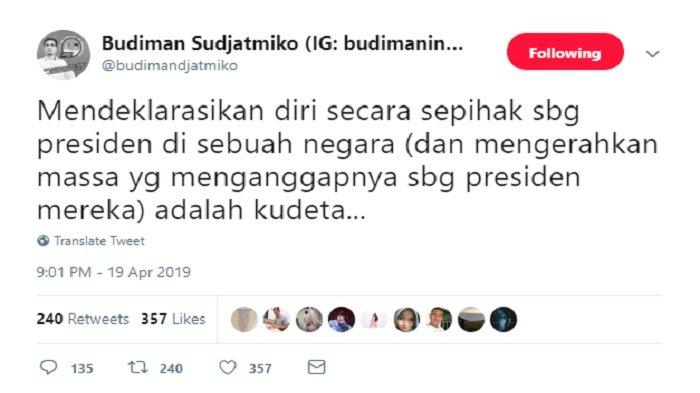 Postingan Budiman Sudjatmiko