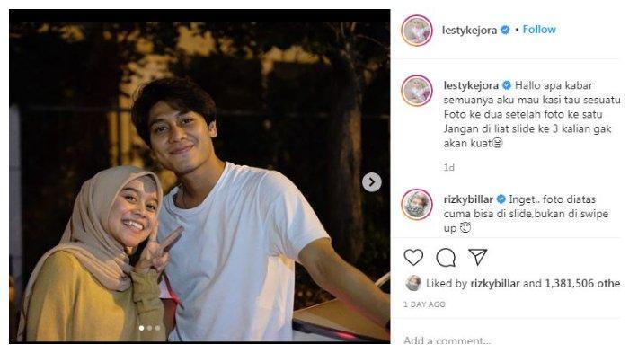 Postingan Instagram Lesti Kejora, Jumat (28/11/2020).