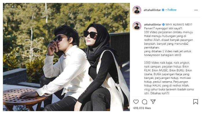 Postingan kegeraman Atta Halilintar yang dituding selalu pamer kemewahan bersama, Kamis (15/4/2021).